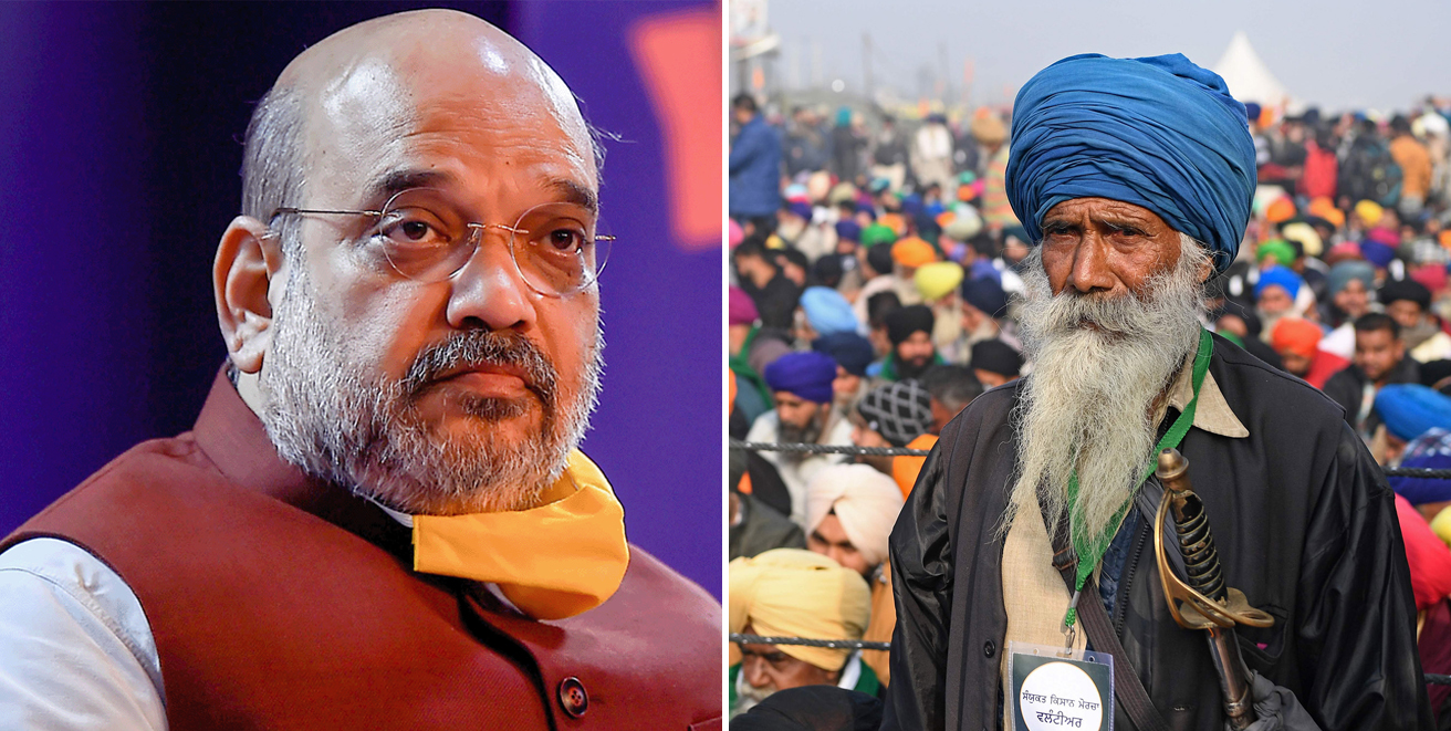 Amit Shah meets farmer leaders after day-long countrywide bandh