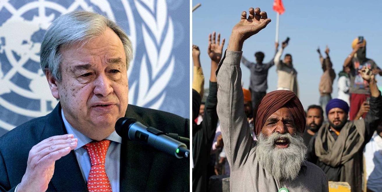 Farmers Protest: United Nations : People have right to demonstrate peacefully