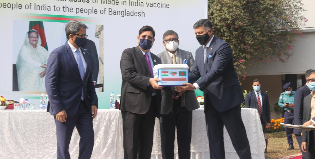 Bangladesh receives 2 million doses COVID-19 vaccine from India