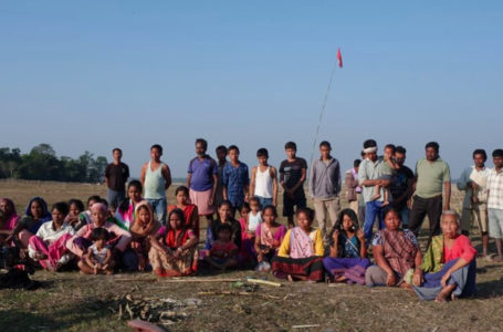 In the name of 'Green Solar Power Project Private company snatching lands of Mikir Bamuni Grant Ryots