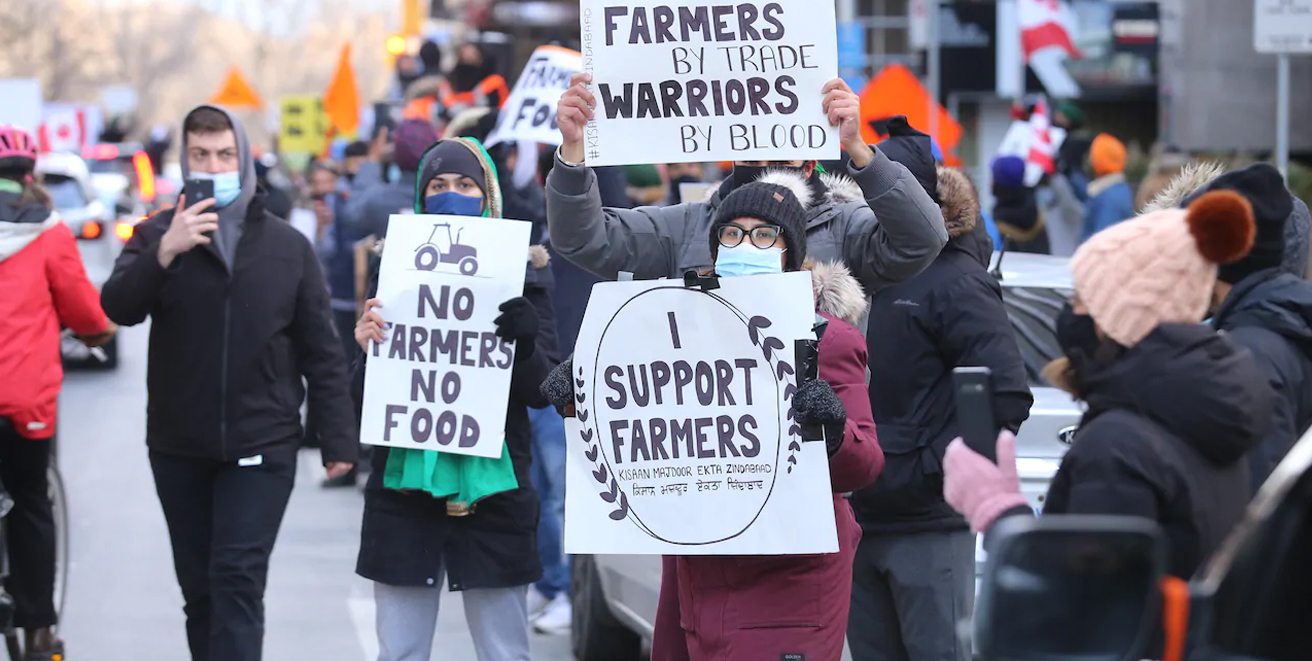 US farmers advocates express solidarity with the historic farmer protests in India