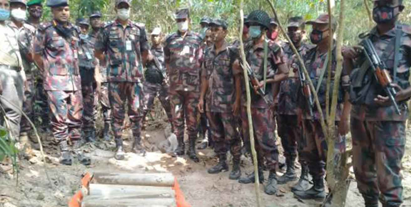ULFA18 rocket cells rescued by BGB from deep forests of Bangladesh near the Indian border