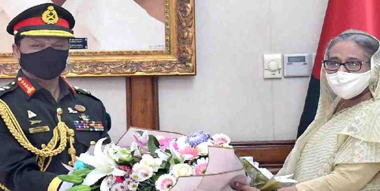 New Bangladesh army chief adorned with rank badge of General