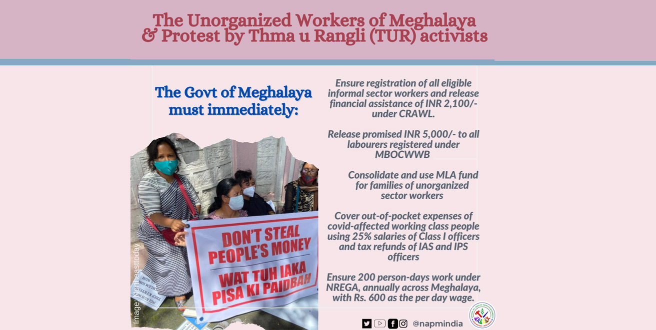 Meghalaya Govt must immediately protect livelihoods and release financial assistance